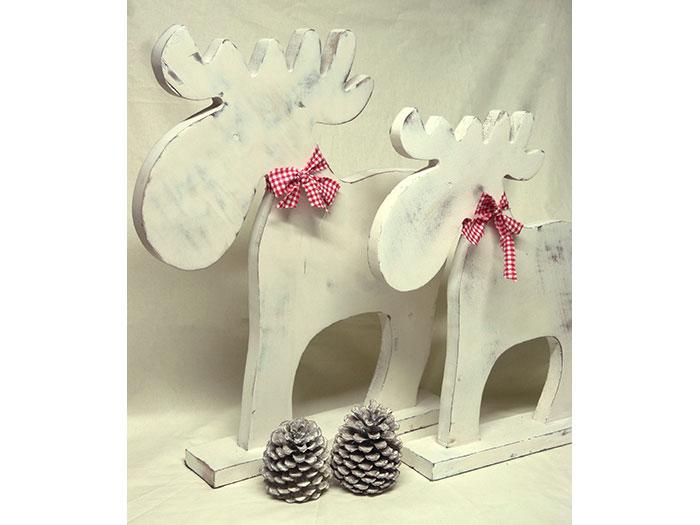 Kleiner holzelch im shabby chic style - Deko holz weihnachten ...