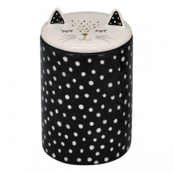 Dose für Naschkatzen - Katze schwarz/weiß