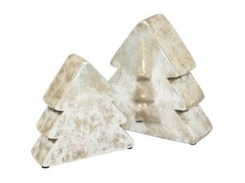 Weihnachtsdeko Tannenbaum silber - klein