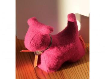 Briefbeschwerer/Türstopper Hund pink