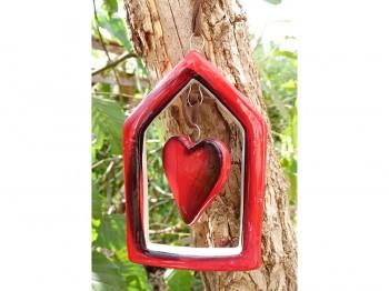 weihnachtliche Fensterdekoration - Herz