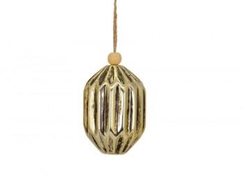 Christbaumhänger gold breit
