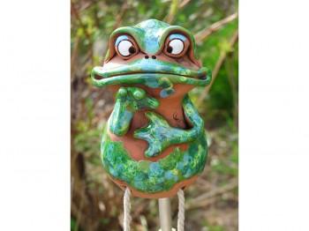 Gartenstecker - Quark der Frosch