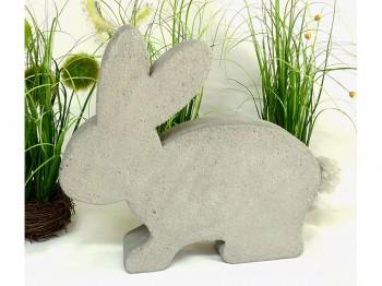 Hase aus Beton - grau