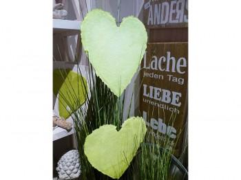 Herzgirlande aus Papier - grün