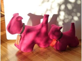 Türstopper Hund Größe M - pink