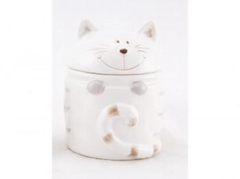 Dose für Naschkatzen – Katze weiß