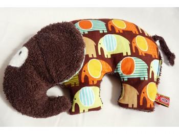 Körnerkissen Elefant Retro - braun