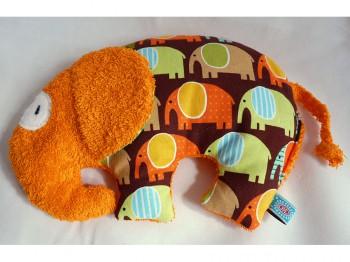 Körnerkissen Elefant Retro - orange