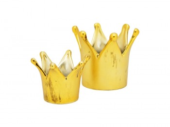goldene Krone aus Keramik - groß