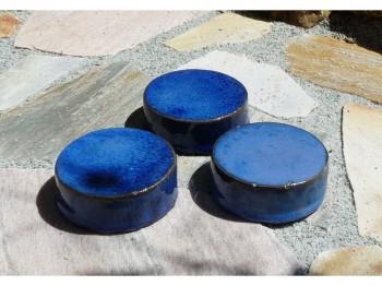 Kübelfuß blau - rund