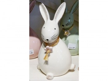 Hase aus Keramik - weiß