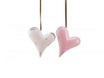 Herzen aus Keramik zum Hängen - Set
