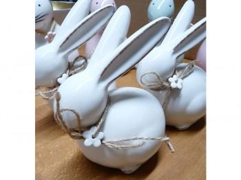 Hase aus Keramik - Osterdeko