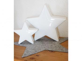 Stern weiß - groß
