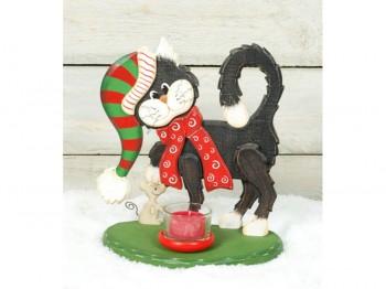 Teelichthalter Katze – Advent