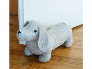 Türstopper Hund XL - Stoff grau