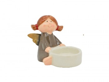 Teelichthalter Engel Keramik