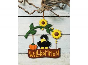 Schild Willkommen Herbstdekoration