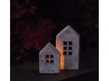 Windlicht Haus klein - Betonoptik