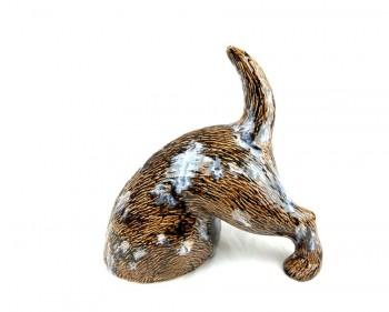 Hinterteil - buddelnder Hund braun