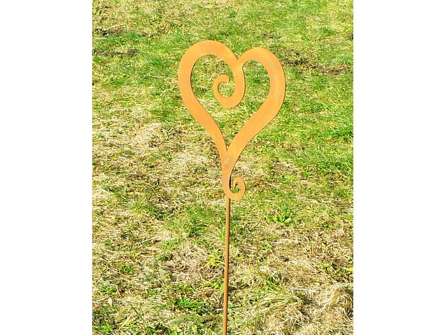 Herzstecker gartenstecker aus metall for Herz aus rost