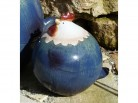 blaues Huhn aus terrakotta - klein