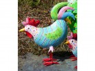 buntes Huhn aus Metall - groß