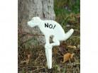 Schild *Kein Hundeklo* - Verbotsschild  - weiss Antik