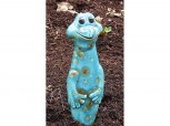 Blumenstecker lustiger Frosch aus Keramik