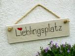 Lieblingsplatz - Betonschild