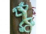 Gecko - Eidechse aus Keramik in mint