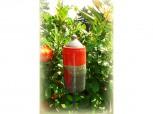 Gartenfackel - Feuerschale zylindrig - rot/anthrazit