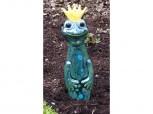 Beetstecker Froschkönig aus Keramik - dunkelgrün