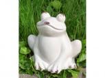 Frosch aus Keramik - weiß