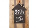 Schild – Hotel Mama – immer geöffnet schwarz