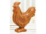 Huhn aus Holz braun