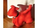 Türstopper Hund Größe M - Cord rot