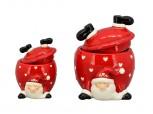 Keksdose Santa kopfüber - klein