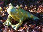 Frosch - Gartendeko aus Keramik