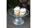 Servierteller - Kuchenplatte mit Fuß - klein