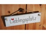 Lieblingsplatz –  Betonschild