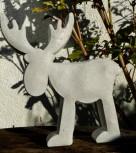 Weihnachts-Elch bzw. Rentier aus Beton mit Goldglimmer