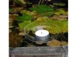 Schwimmende Teelichthalter - Klarglas