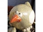 Vogel-Trio aus Keramik