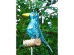 Gartenstecker Vogel - türkis