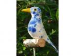 Gartenstecker Vogel - weiß