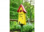 """Nistkasten - Die Vogelvilla Nisttürmchen """"Katzenkino"""" in gelb"""