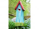 Nistkasten - Die Vogelvilla Nisttürmchen Strandhaus blau