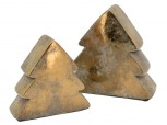 Keramik Tannenbaum bronze - klein